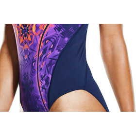 speedo GemstoneFlash Recordbreaker Swimsuit Women Navy/Diva/Fluo Orange